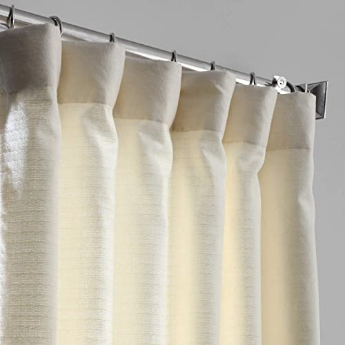 HPD Half Price Drapes BWLK-1853-96 Cotton Textured BarkWeave Curtain 1 Panel
