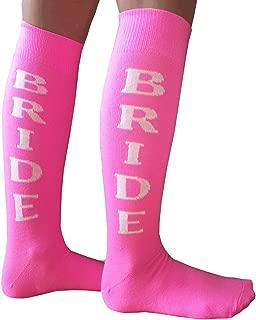 product image for Chrissy's Socks Women's BRIDE Knee High Socks Pink/White