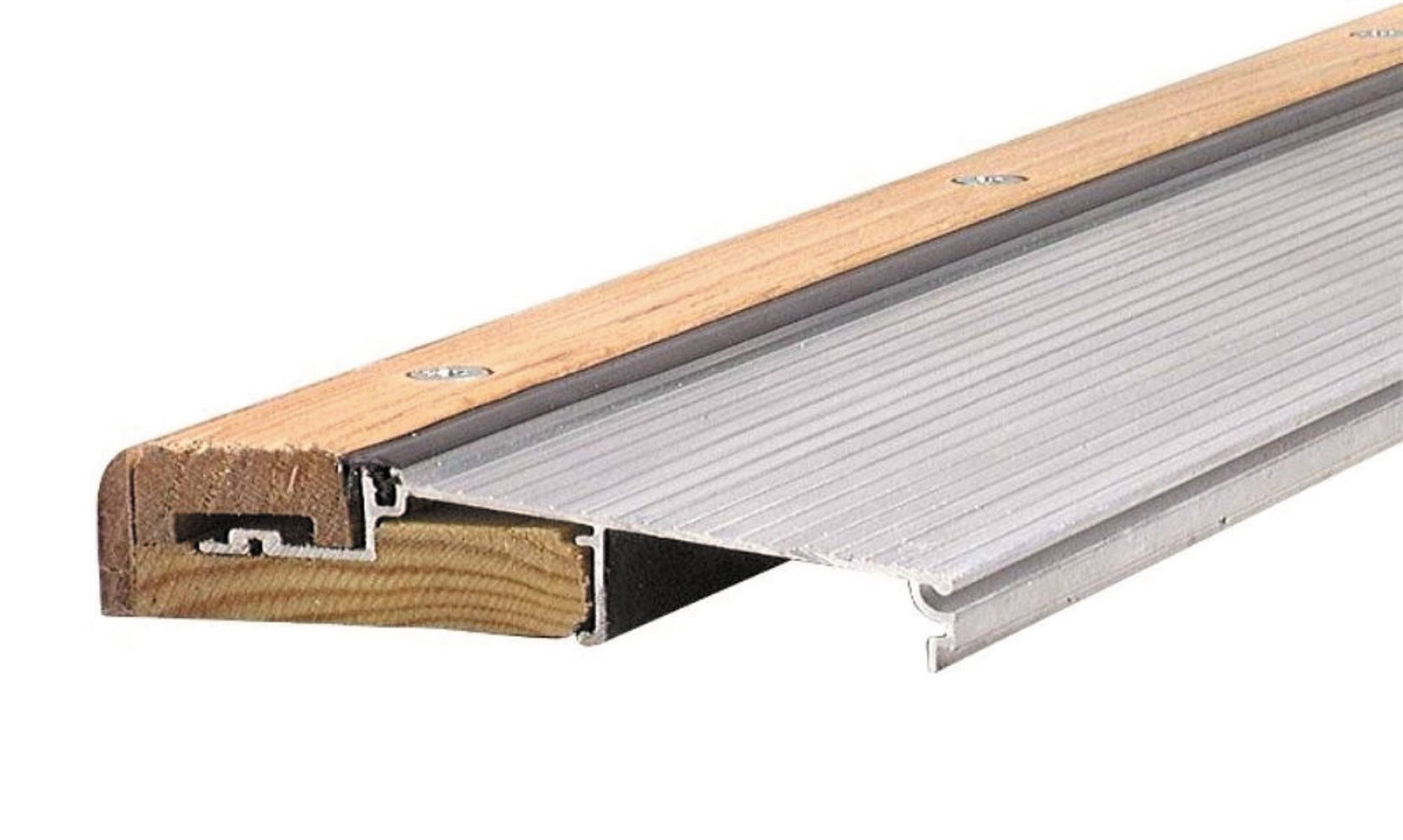 M-D Building Products 78600 1-1/8-Inch by 5-5/8-Inch - 36-Inch TH394 Adjustable Aluminum and Hardwood Sill Inswing, Mill