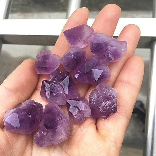 pietre di cristallo di quarzo curativo pietre irregolari per la creazione di gioielli 1 kg. pietra preziosa per avvolgere fili metallici AITELEI Pietre in cristallo di ametista