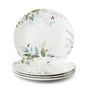 Lenox 887076 Frosted Pines 4-Piece Dinner Plate Set