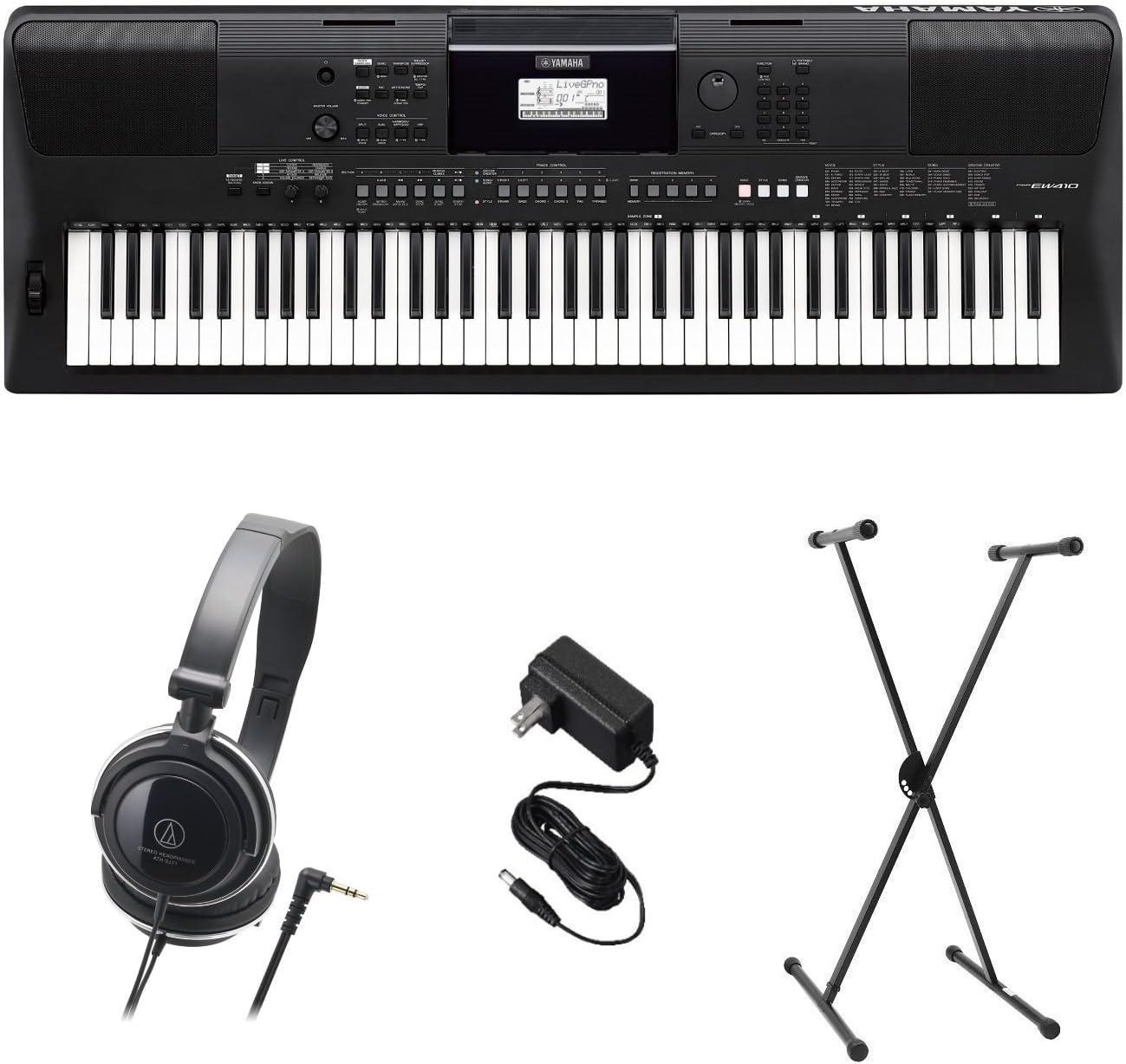 Yamaha PSR-EW410 PKS Premium Pack de teclado con fuente de ...