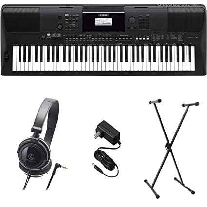 Amazon com: Yamaha PSR-EW410 PKS Premium Keyboard Pack with