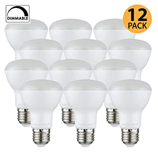 [12-Pack] PROCURU BR20 LED Light Bulb 5.5W (50W Equivalent) Flood Dimmable 2700K Soft White 525 Lumens, Indoor/Outdoor 25000 Hrs Rated, UL & Energy Star Certified...