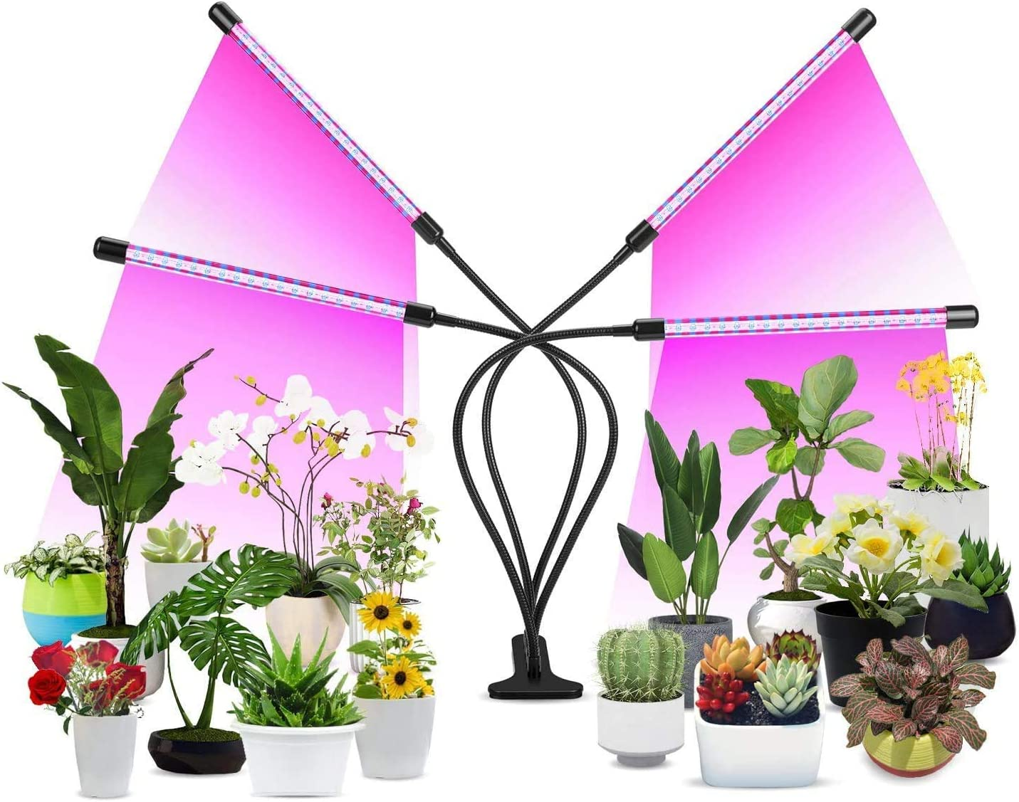 Grow Light, Grow Light for Indoor Plants 9 Dimmable Level Full Spectrum Grow Lamp with Auto On Off 3 9 12H Timer 10 Dimmable Levels Lightness LED Grow Lamp