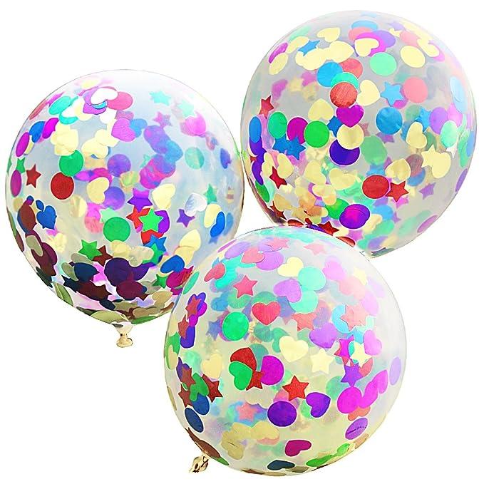 1 opinioni per Kebinfen® 10 pz 12 pollici palloncini coriandoli con coriandoli tondo cuore