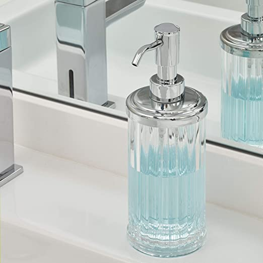 Idesign Alston Plastic Liquid Soap Pump And Lotion Dispenser For Kitchen Bathroom Sink Vanity 3 5 X 3 5 X 8 Home Kitchen