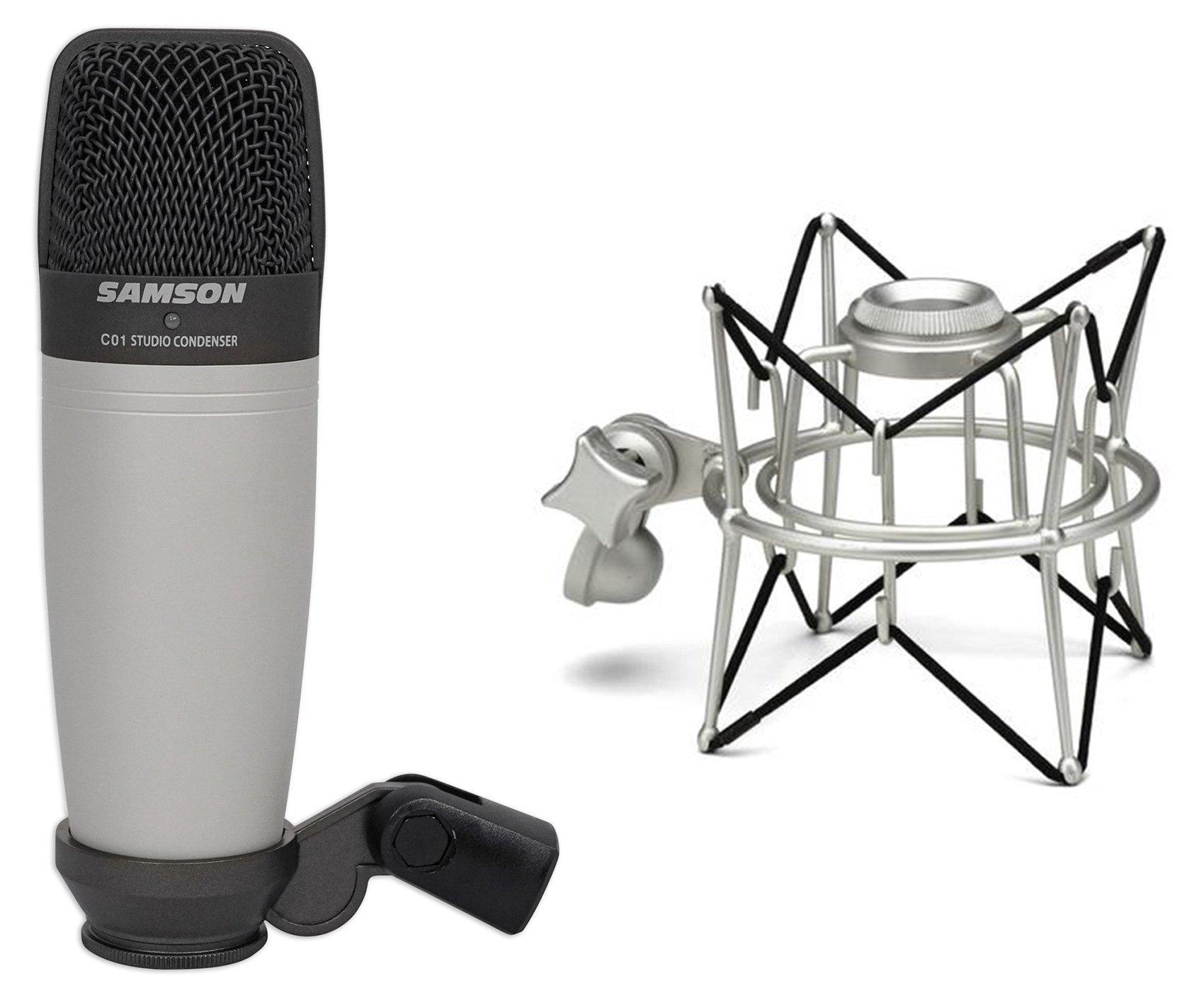 Samson C01 Studio Condenser Recording Microphone Mic + Spider Shock Mount by Samson Technologies (Image #1)