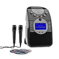 auna ScreenStar • Karaokemaschine • Kinder Karaoke Player • Karaoke Anlage • CD-Player • Spielt Karaoke-CDs • 3 x Karaoke-CD • 2 x Mikrofon • USB-Port • schwarz