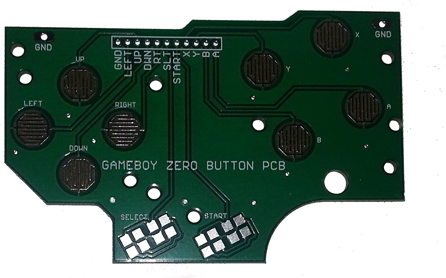 4 Button PCB For Gameboy DMG-01DIY Pi Zero Made In USA With Grounds and Hole Guide BY:Atomic Market 8 Bit Oldies 4_button_pcb_GBZ