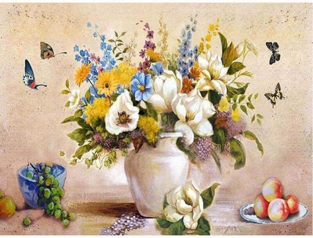 No Frame-40x50cm sdfgea Tal Painting Grape Flower Paint By Numbers for Adult Kid Oil Kit Children Decor Decoration Beginner Canvas Colour