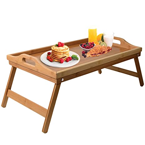 Lap Desk Bed Tray Table U2013 Bamboo Folding Lap Desks For Adults And Kids As  Dinner