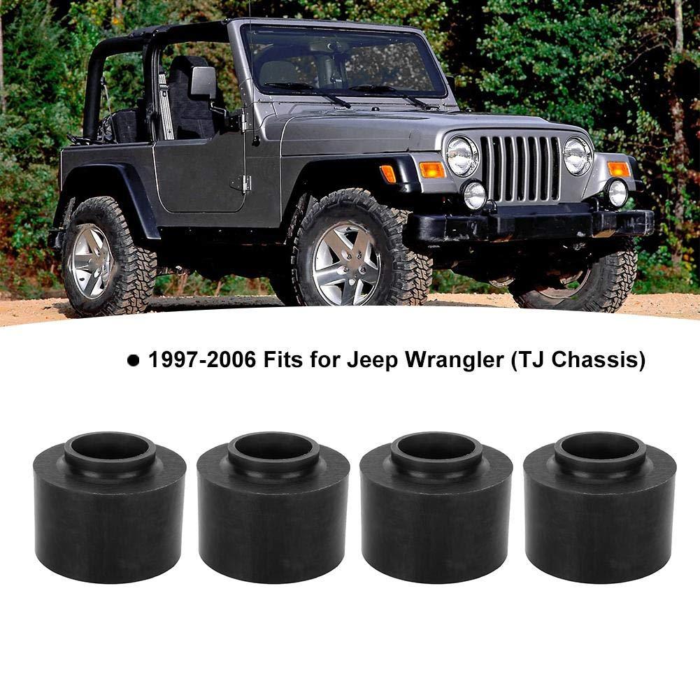 Heckhubkit Nivellierhubkit Passend f/ür TJ Chassis 1993-1998 ZJ Chassis 2,5-Zoll-Polyurethan-Schraubenfederdistanzscheiben vorne und hinten