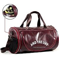 wewo Reisetasche Groß Kapazität Herren Sporttasche Leder Damen Handtasche Faltbare Weekender Bag Handgepäck Gym Taschen Wasserdicht Duffel Bag Multipurpose