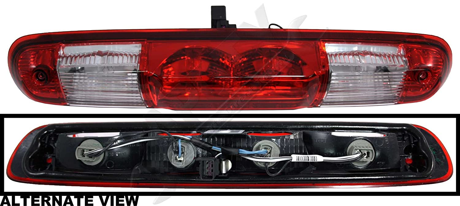 APDTY 25890530 3rd Third Brake Light High Center Mount Lamp Complete Assembly w//Bulbs Fits 2007-2014 Chevrolet Silverado or 2007-2014 GMC Sierra OEM Factory Design Colors, See APDTY-141303 For Smoke