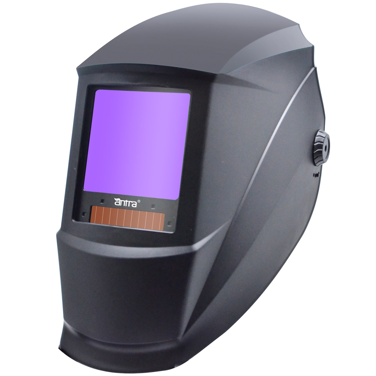 Antra AH7-X30P-0000 Digital Controlled Solar Powered Auto Darkening Welding Helmet Wide Shade 4/5-8/9-13 With Grinding Feature Extra Lens Covers Great for TIG, MIG, MMA, Plasma