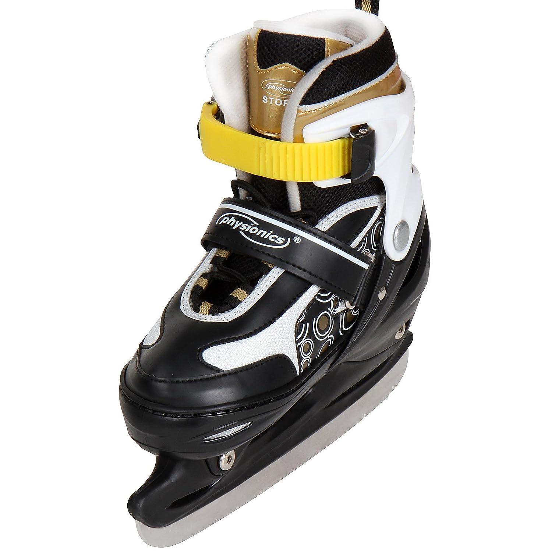 Patines de hockey sobre hielo de color amarillo en diferentes tallas a elegir
