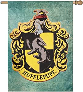 "Smooth Retangular Flag Translucent Harry Potter Hufflepuff Quidditch Flag Sing Layer 27""x37"""
