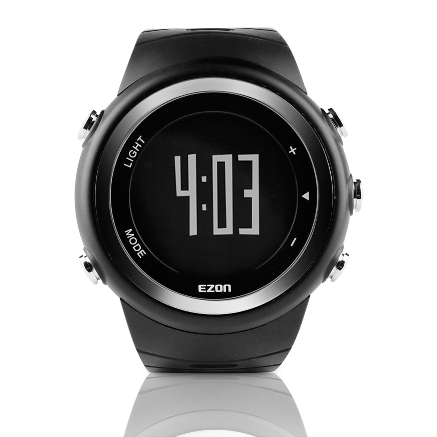 EZON Sports Watch with Big Number Pedometer Calorie Counter Running Digital Wristwatch for Men T023B01