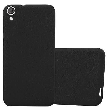 Cadorabo Funda para HTC Desire 820 en Frost Negro - Cubierta Proteccíon de Silicona TPU Delgada e Flexible con Antichoque - Gel Case Cover Carcasa ...