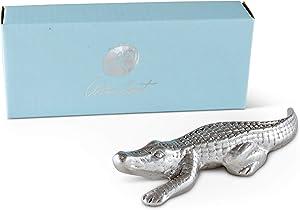 Arthur Court Designs Aluminum Alligator Large Figurine 6 Inches Long