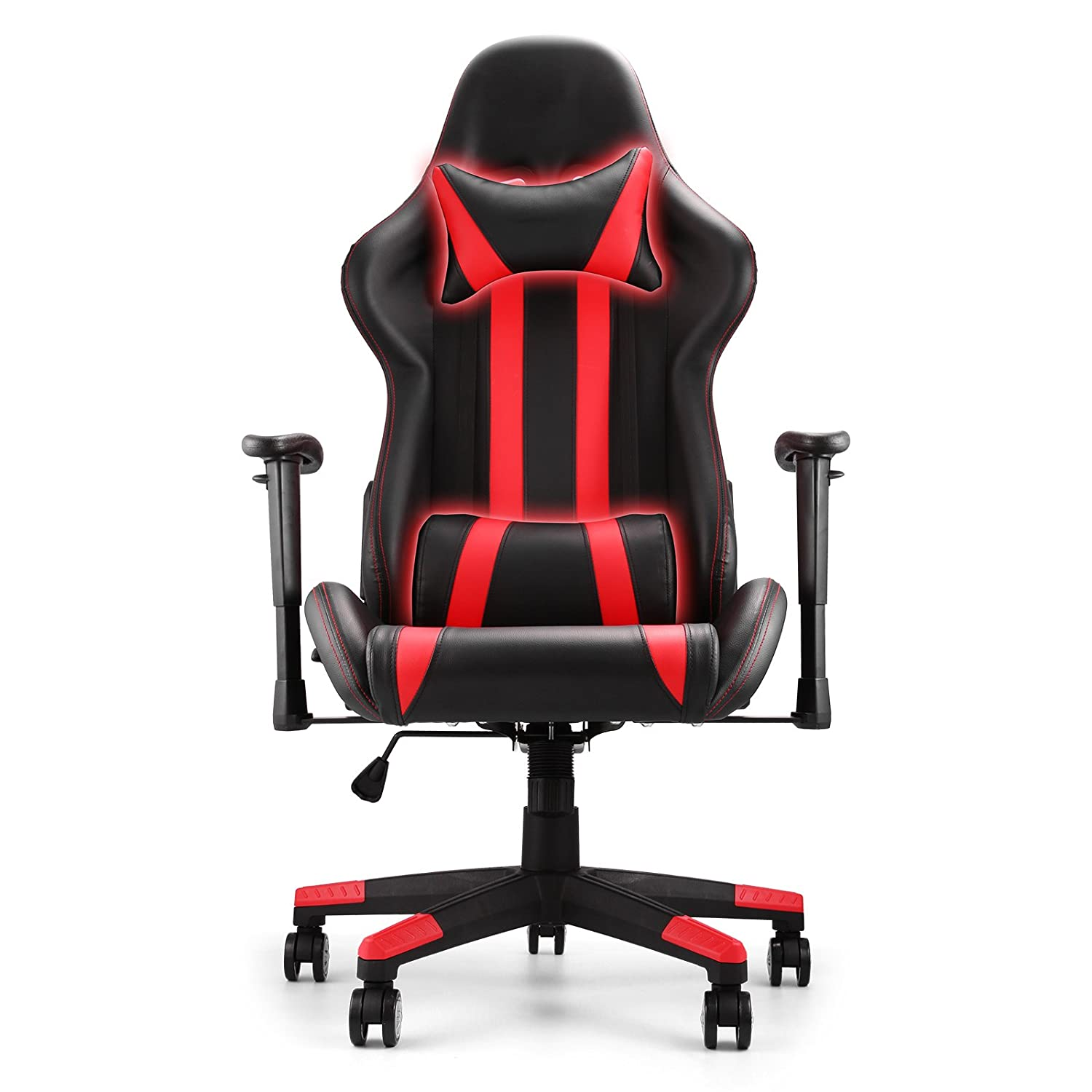 Computer gaming chair - Amazon Com Vevor Racing Chair Soft Pu Leather Cover Computer Chair High Back Adjustable Computer Gaming Chair Ergonomic Swivel Computer Office Or Gaming