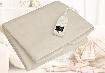 Premium Polar Peluche Manta eléctrica eléctrica Manta eléctrica térmica cama Alfombrilla calefactora de calor calor –