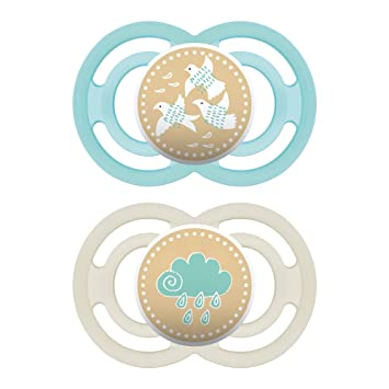 MAM Perfect Silicone Pacifier Green 0-6 Months BPA free *BRAND NEW* 60/% Thinner
