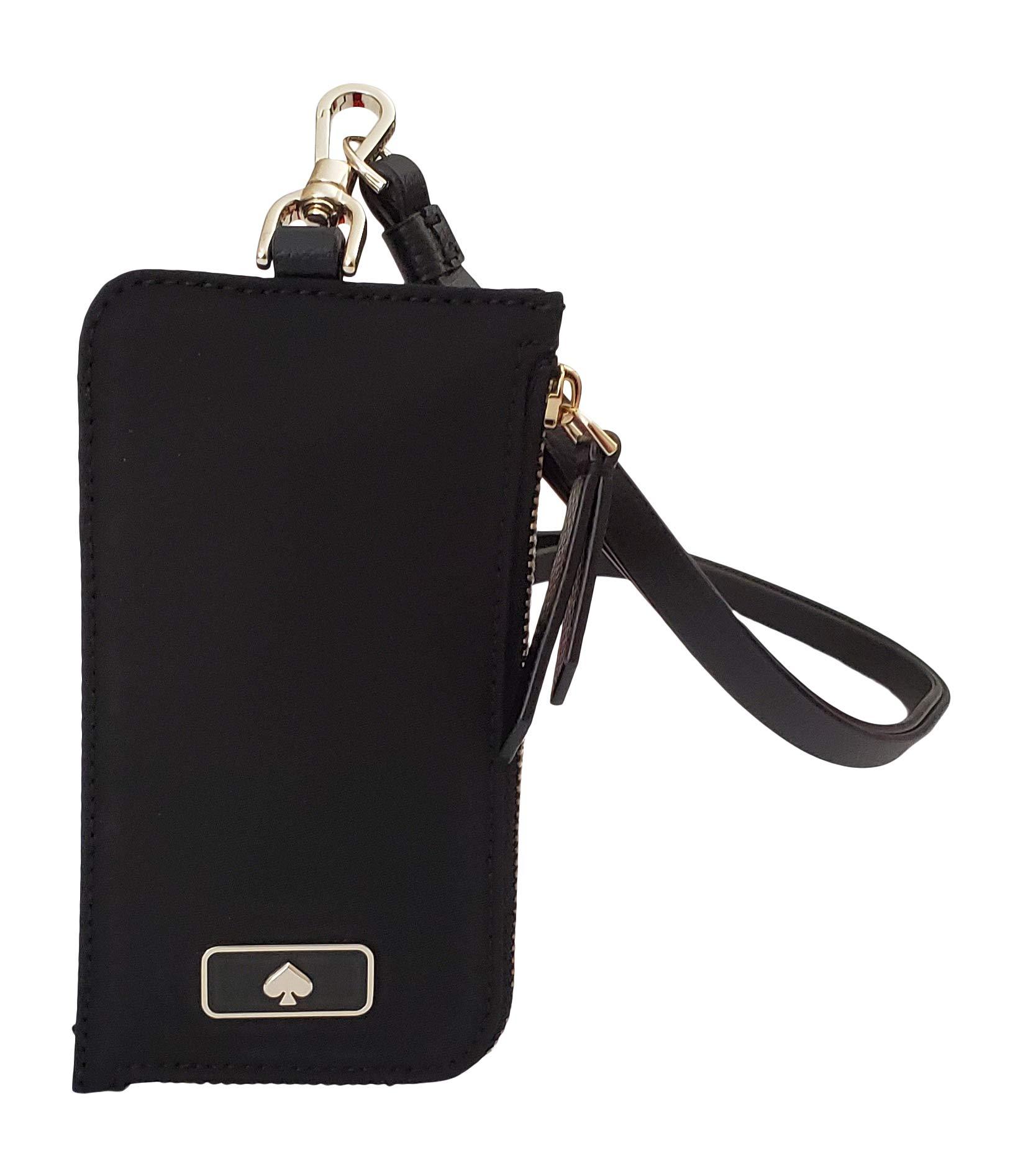 Kate Spade New York L-Zip Dawn Card Case Lanyard Black