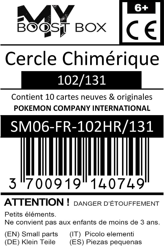 Cercle Chim/érique 102//131 Holo Reverse #myboost X Sonne /& Mond 6 Grauen der Lichtfinsternis Bestienring Coffret de 10 Cartes Pok/émon Allemandes