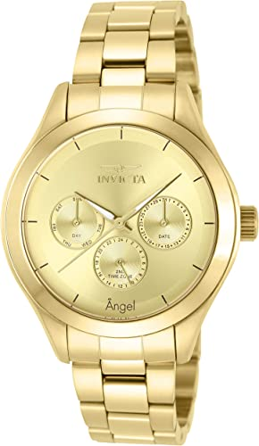 Invicta Women S 12466 Angel Reloj De Acero Inoxidable En Tono Dorado Para Mujer Invicta Watches