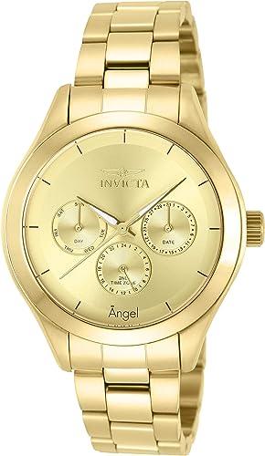 Invicta Women S 12466 Angel Reloj De Acero Inoxidable En Tono Dorado Para Mujer Invicta Watches