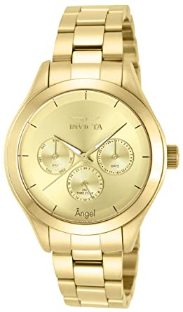 89a2cfa6c67 Amazon.com  Invicta Women s 12466 Angel Gold-Tone Stainless Steel ...