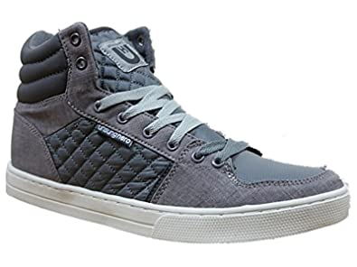 13e92f456f20 Unsung Hero Mens Hi Top Trainer Boots UNSUNGHERO jepson In Black Navy Grey  Colours Sale Price