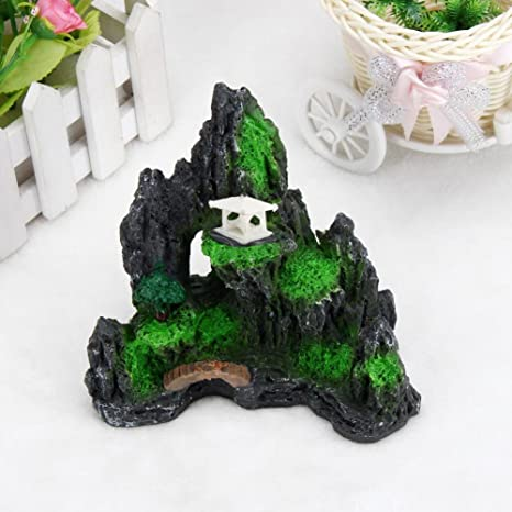 SO-buts Figura decorativa para acuario, acuario, pecera, pecera, resina,