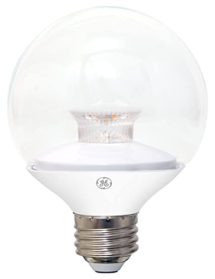 GE Lighting 20003 LED 4 5-watt (25-watt replacement), 280-Lumen G25 Light  Bulb with Medium Base, Clear Soft White, 1-Pack