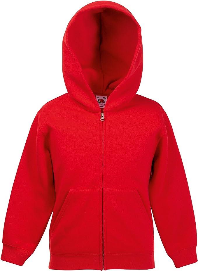 Fruit of the Loom Classic Hooded Sweat Jacket Kids UNISEX Kinder Kapuzen Jacke