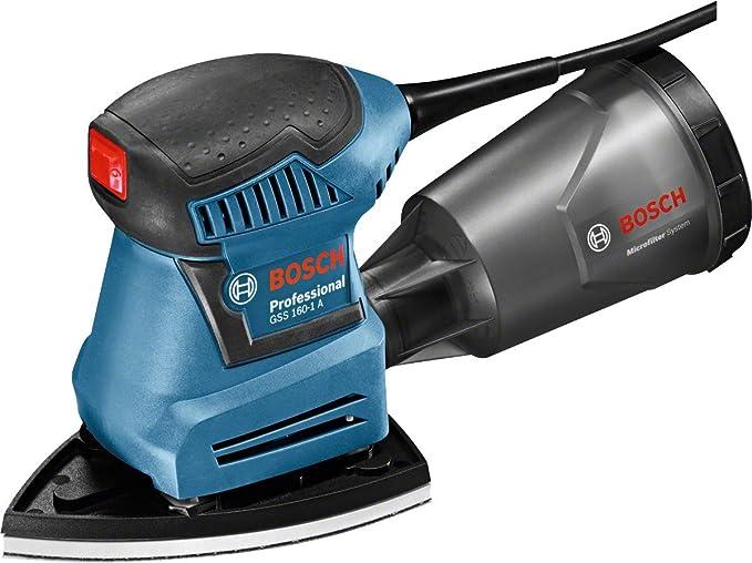 Bosch Professional Ponceuse Vibrante Filaire GSS 160-1 A Multi (180 W, Largeur/Longueur du plateau de ponçage : 100/150 mm, L-Boxx)