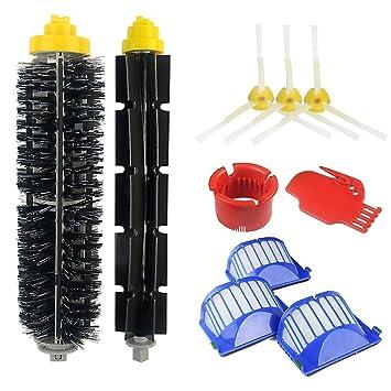 Vistefly Kit de accesorios de repuesto para iRobot Roomba Serie 500&600:564 585 552 595&600 605 610 614 616 620 630 650 651 675 680 681 690,Kit ...