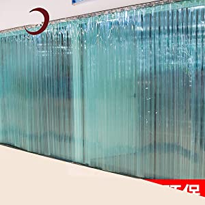 Liziyu PVC Soft Strip Curtain, Hardware Included 7847In (LW) Large Transparent for Freezer Doors Warehouse Doors Supermarket Canteen Common Door Kit (Hardware Included),1.9MM,120200cm(8pc)