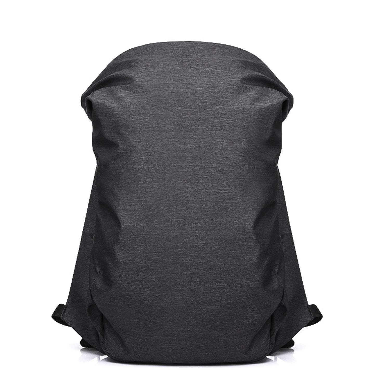 ノートパソコンのバックパック レジャー旅行のバックパック USB充電ポート付き コンピュータのバックパック 男性 フード付き 多層収納袋 学生バッグ   B07H2TC1MR