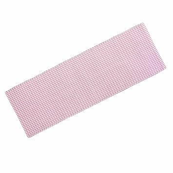 Teppich läufer rosa  Homescapes Gingham Karo Teppich Vorleger Läufer, 66 x 200 cm, 100 ...
