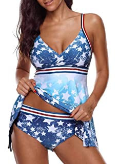 c0c67dd0e9349 Amazon.com: Howley Women American USA Flag Print Stars Beach Strappy ...