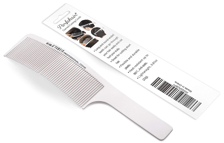 Amazoncom Curved Barber Clipper Comb Flat Top Hair Cutting Comb