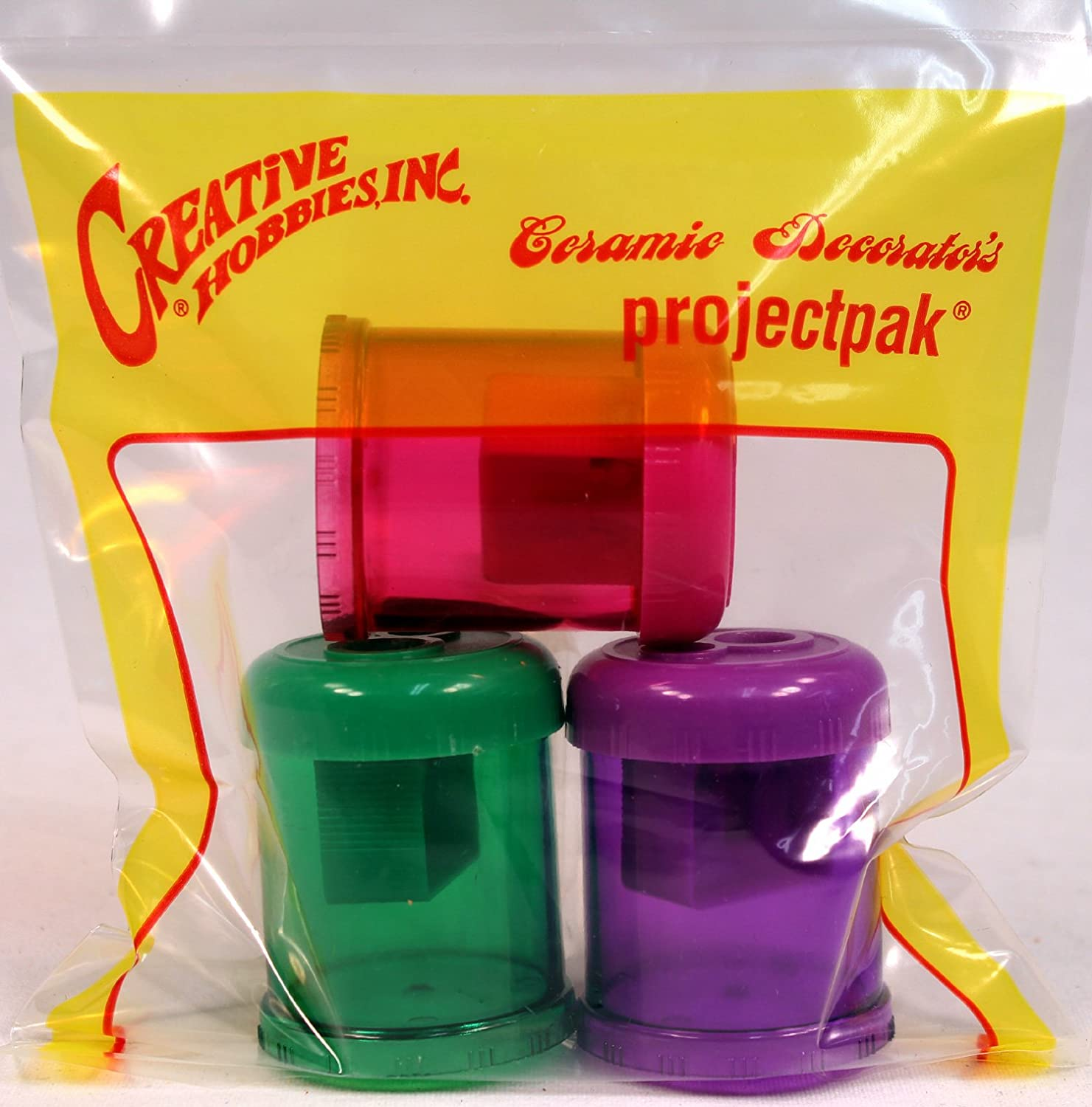 Creative Hobbies Double Hole Pencil Sharpener with Shavings Catcher Tub Case Lot of 12 Sharpeners