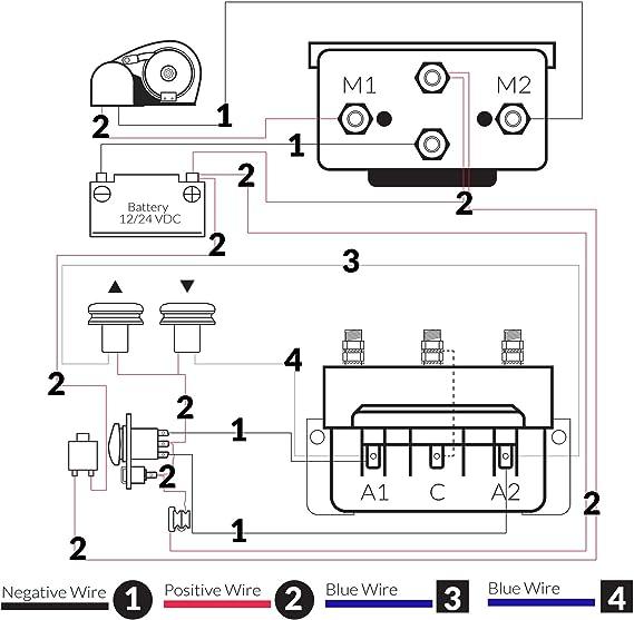 Amazon Com Five Oceans Dual Direction Windlass Solenoid 2 Wire Motors Reversing Control Box 12v Fo 3292 Sports Outdoors