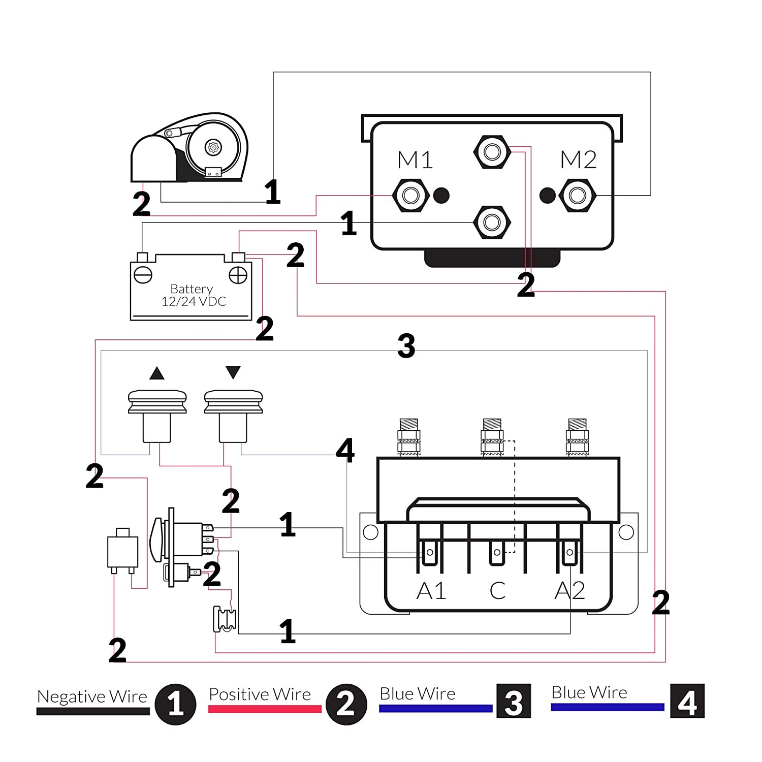 Five Oceans Dual Direction Windlass Solenoid 2 Wire Motors Reversing Control Box 12v Fo 3292 Boat Station Wiring Diagram For Two Sports Outdoors
