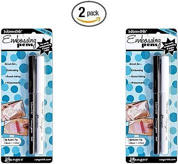 Clear Set Pack 2 Ranger Perfect Medium Pens 2//pkg-clear Bullet /& Brush Tips