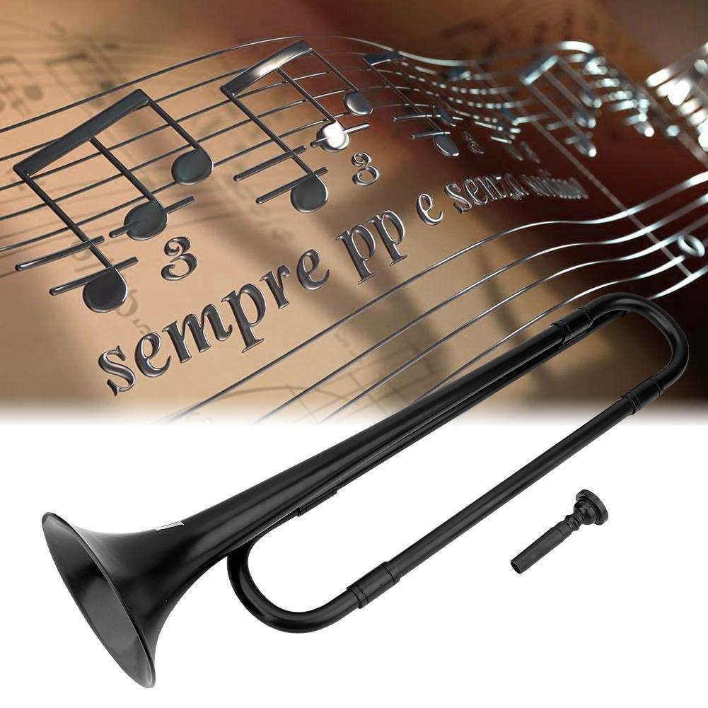 Bugle Infantil con Boquilla Alomejor pl/ástico Colorido B Trompeta Plana Cavalry Instrumento Musical para ni/ños y Estudiantes Negro