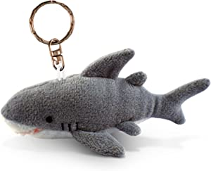 Shark Keychain Fluffy Plush Stuffed Clip Toy - Cute Ocean Animal Miniature Plush Sea Creature Chain - Soft Small Shark Sea Life Animal On Chain - 4.5 Inch Shark Toy For Kids And Adult - Item 5828